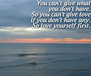 You can't give