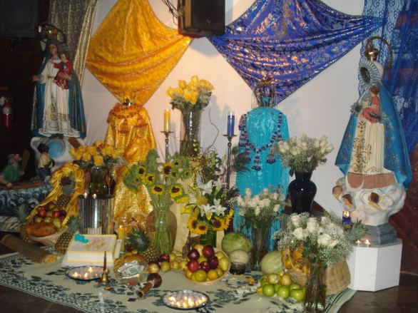 Santería syncretism, where African deities are 'replaced' by Christian 'Saints'